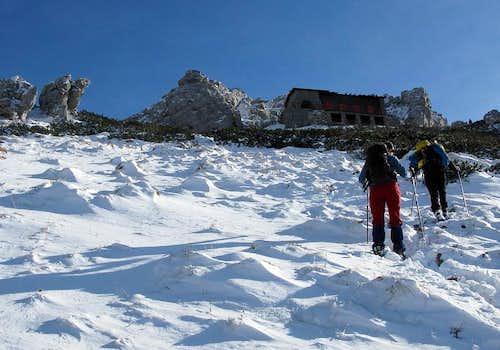 Approaching Snježnik refuge