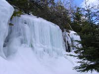 waterfalls along trail