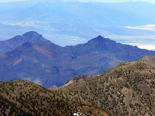 Corkscrew and Thimble Peaks from Wahguyhe Peak