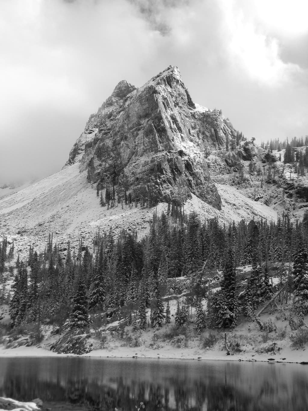 A Dramatic View of Sundial Peak and Lake Blanche.... Just another day at church