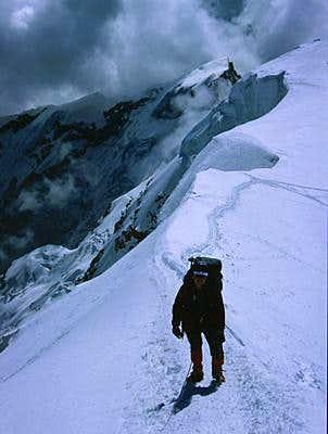 final ridge to the...