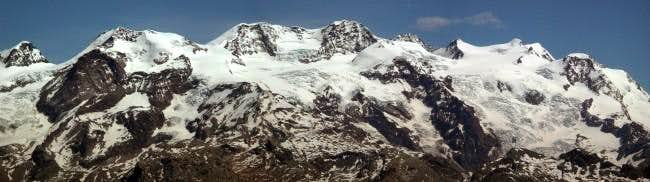 The whole Monte Rosa Group...