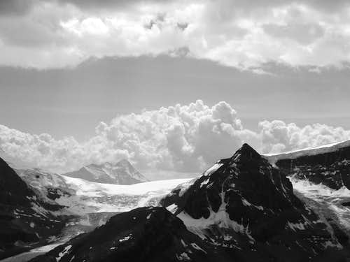 Clouds roll over Icefield