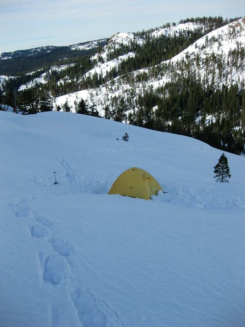 Camp below Silliman Lake