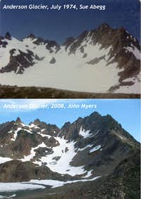Shrinking Anderson Glacier in the Olympic Mnts