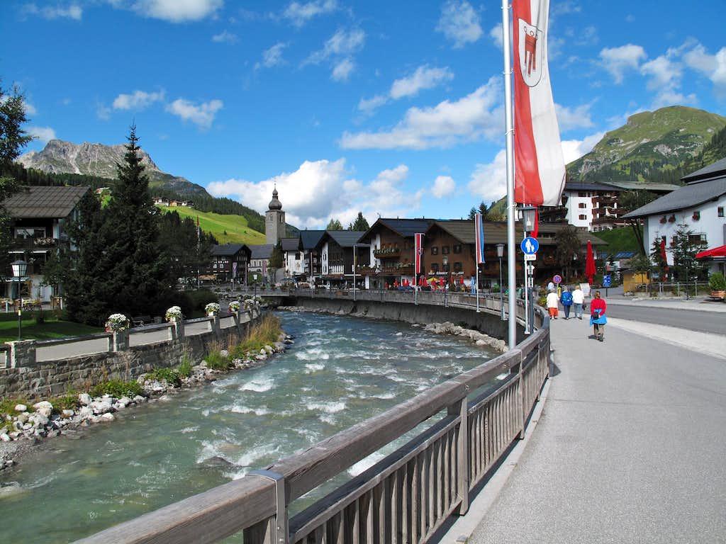 The village of Lech am Arlberg