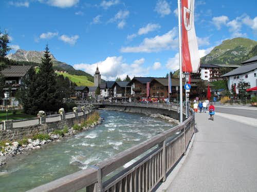 The village of Lech am Arlberg