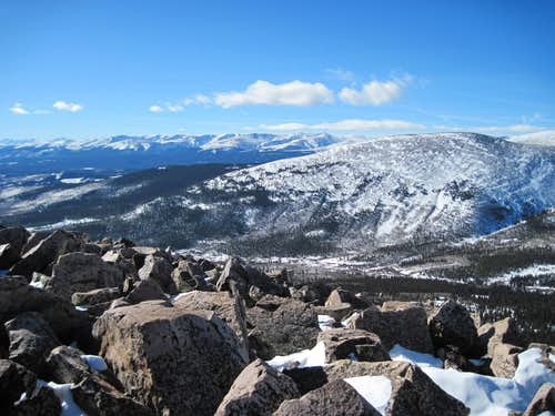 Palmer Peak from Little Baldy Mountain