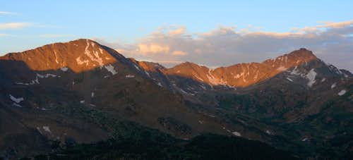 Deer Mountain and Pt. 13,535  in early morning light