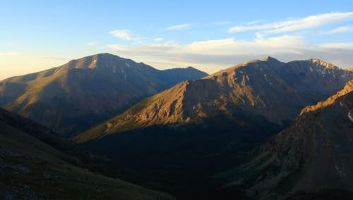 Mt. Elbert and French Mountain from Mount Massive