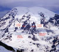 Mount Rainier, Fuhrer Finger & Fuhrer Thumb.