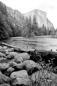 El Capitan from bank of Merced River