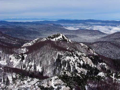 Snježnik summit panorama view