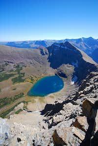 2,000 feet down to Kennedy Lake
