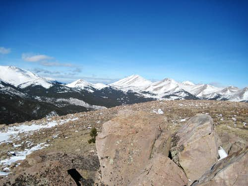 Boreas Pass from the Summit of Little Baldy