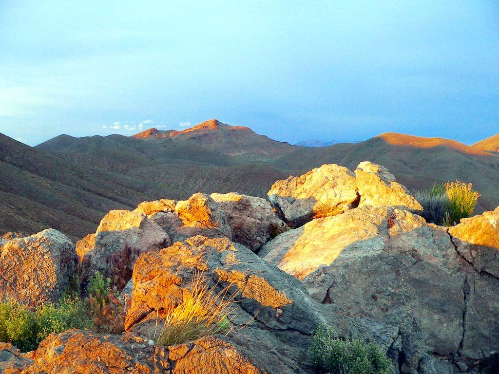Last light on peaks near Daylight Pass