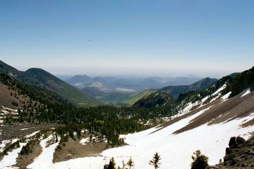 View from the Agassiz saddle...