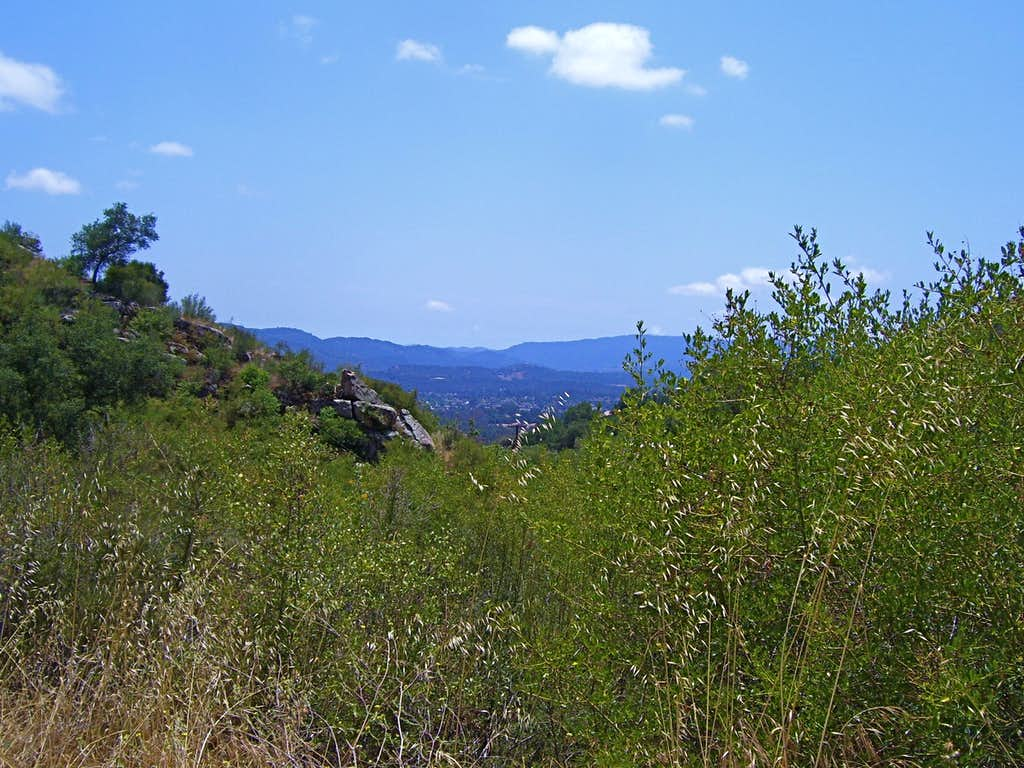 View of the mountains of Ojai