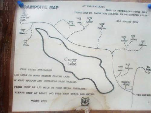 Map of the camp sites around...