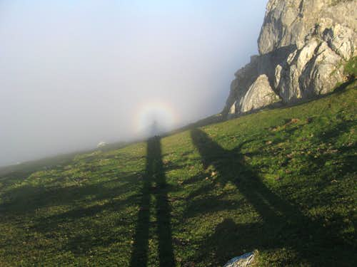 Brocken Spectre going up Mugarra