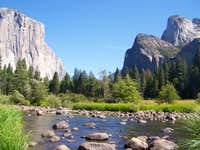 The view from the Merced river