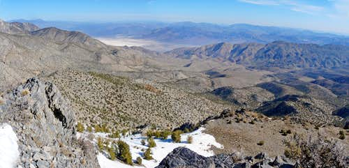 Cerro Gordo Peak northeast pano
