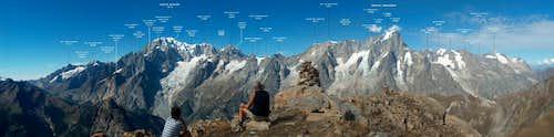 Monte Bianco italian ridge