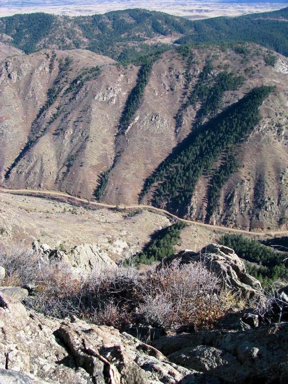 Summit View - Waterton Canyon deep below