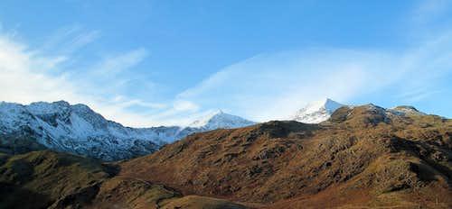 Mount Snowdon from Pen y Gwryd