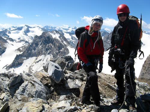 Jorinde (14) and Roel (13), summit (july 2009)