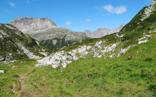 View to Rote Wand (2704 meters) and Johanneskopf (2507 meters)