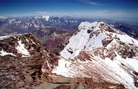Aconcagua south summit from the north summit, 1 february 2002