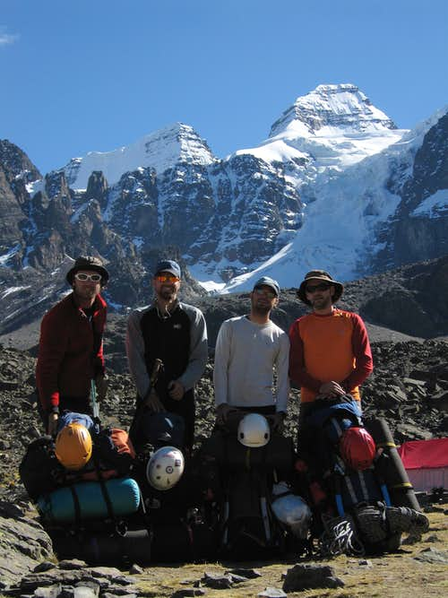 Leaving Condoriri after a great week of climbing