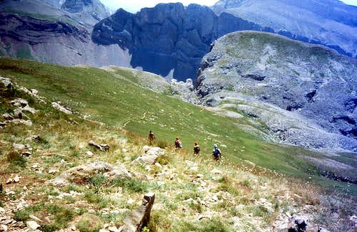 Leaving the summit