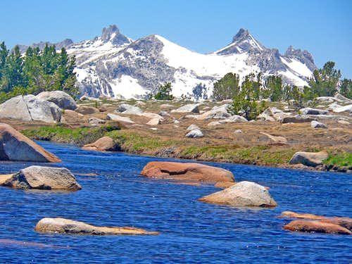 Cathedral Range from Gaylor Lakes