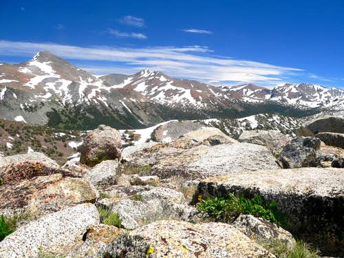 Southeast from Tioga Spur