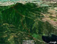Mica Peak, Google Earth view