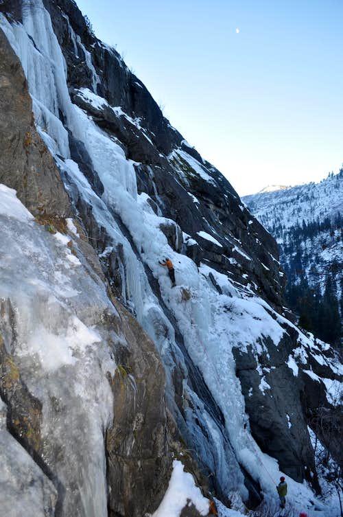 Ice climbing in Leavenworth