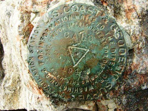 USGS Marker on Cajon Mtn