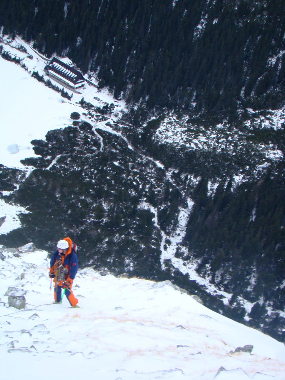 Winter climbing in Popradske Pleso area