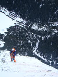 Winter climbing in Popradske Pleso area