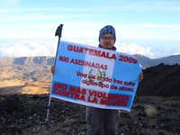 CALL TO ACTION!! - NO MORE VIOLENCE AGAINST WOMEN - TEIDE VOLCANO