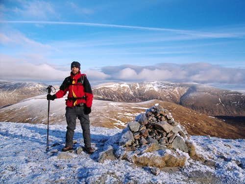 Me on the summit of Sgor Choinnich