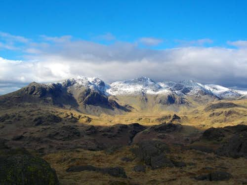 Snow on the Scafells