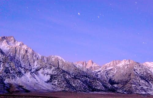 Mt. Whitney before dawn