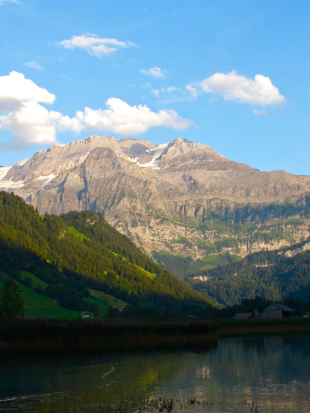 Evening view to the Wildstrubel from the Lenkseeli lake