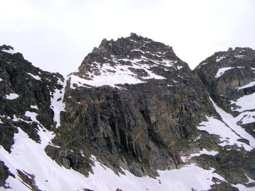 Mount Cowen's summit mass....