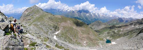 Becca di Viou and Arpisson Lake