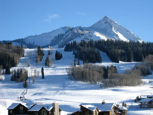 Present day Mount Crested Butte