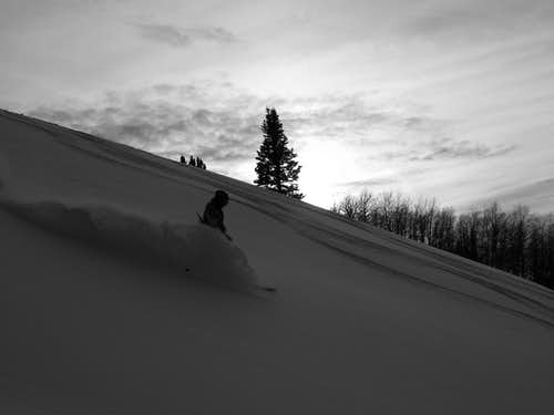 Troy skiing the Dark and Dramatic.........
